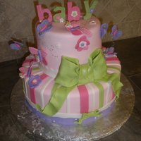 Butterfly Baby Shower Caker