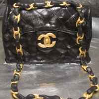 Chanel Purse Cake My first attempt at a purse cake.