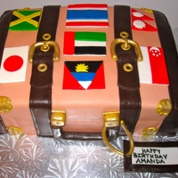 Suitcase Cake A Cake for an avid traveller