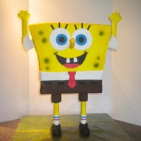 Spongebob Cake For My Sons 5Th Birthday He Was 2 Ft Tall With A Pvc Pipe Infrastructure We Had Alot Of Leftover Cake That Day Lol SpongeBob cake for my son's 5th birthday. He was 2 ft tall, with a PVC pipe infrastructure. We had ALOT of leftover cake that day, lol...