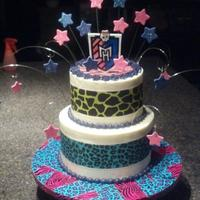 Monster High Themed Birthday Cake *Monster high themed birthday cake.