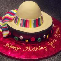 "Sombrero Cake With Fondant Buttons Hanging For The Birthday Girls Nickname Jeanie Buttons *Sombrero cake with fondant buttons hanging for the birthday girls nickname ""Jeanie buttons""."