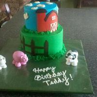 Farm Theme For A 3Rd Birthday Party Fondant Farm Animals *Farm theme for a 3rd birthday party. Fondant farm animals.