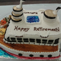 White Cake With Lemon Chiffon Filling For Cabin Portion Of Cake Red Velvet Cake With Truffle Filling For The Hull Of The Ship Cruisin To White cake with Lemon chiffon filling for cabin portion of cake.Red Velvet cake with truffle filling for the hull of the ship.Cruisin to...