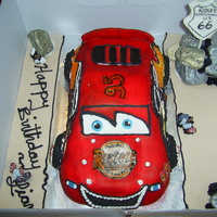 Lightening Mcqueen Happy Birthday Liam Chocolate Cake With Fondant Chocolate Rocks Lightening McQueen - Happy Birthday Liam!Chocolate cake with Fondant. Chocolate rocks