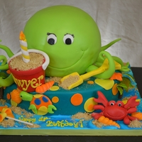 Octopus Cake  One of my fave clients always gives me carte blanche to go with her theme. This year was her son's #1, so we did a beach theme with...