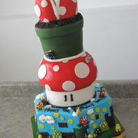 Mario Wii Cake  I saw a mario cake on here a little while back and it reminded me I never posted this one. They gave me carte blanche to whatever I wanted...