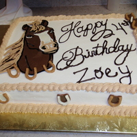 Birthday For Zoey Marble cake with buttercream. Chocolate accents.