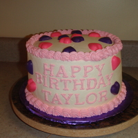 Happy Birthday Taylor Chocolate fudge cake with buttercream. Wanted to try something different with this one. Decorations are chocolate. Thanks for looking.