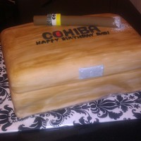 Cohiba Cigar And Humidor all fondant, faux wood technique