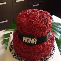 Red Roses   buttercream