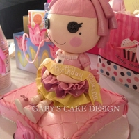 Lalaloospy Jewel Sparkle Cake my niece love this doll so much she wanted me to make it in cake for her 7th birthday .