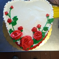 Heart Cake i decorated for work for this upcoming Valentines day