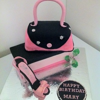 Purse, Shoe, Shoe Box Purse was a lemon curd cake with lemon butercream filling covered in fondantshoe box is vanilla cake with ganache filling covered in...