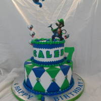Luigi's Mansion Buttercream iced. Fondant decorations. Images are all edible from my edible printer.