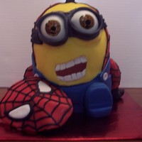 Ever Wonder Who Spider Man Really Wasi Figured It Out Spider Minion Is 4 Layers Of Spice Cake With Apple Filling And A Dome Pan Top C  ever wonder who spider man really was....I figured it out. spider-minion is 4 layers of spice cake with apple filling and a dome pan top....
