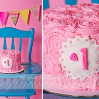 Adventures In Buttercream Smash!   this is the photographers shot of the cake, we should all have a pro do our pics :)