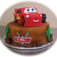Lightening Mcqueen   Client brought a picture of this cake ~ original design cme from Kimberly Dawn Cakes website.