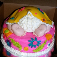 Colorful Baby Booty made this cake to match the invitations
