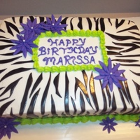 Zebra Print With Lime Green And Purple