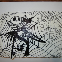 Jack Skellington My son requested a Jack Skellington cake for his birthday and I was happy to do it using a FBCT.