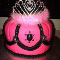 Crown/tiara Cake... This cake was for a bridal shower. They wanted a princess tiara cake. Vanilla cake with buttercreme. Covered in fondant with fondant...