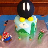 Mario Cake Hi,My friend brought me a picture of the cake she wanted and I tried my best to make it for her. I don't know if the original is...