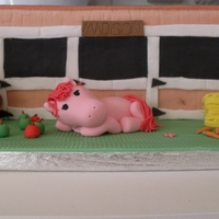 Horse Stable Cake Stables & horse cake made for my daughters 6th bday.