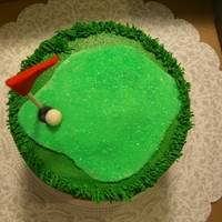 Golf Cake  Choc with choc/vanilla buttercream and fresh raspberries. My first time with a fruit filling. very tasty though! All buttercream with...