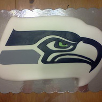 Seahawks Half Sheet Cake Carved And Covered In Fondant The Seahawk Is All Pieced Fondant Seahawks half sheet cake, carved and covered in fondant. The seahawk is all pieced fondant.