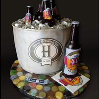 Big 40 Beer   This is 100% edible even the bottle cap portion of the Cake board and all sugar bottles.