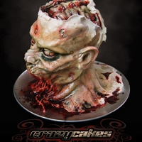 Zombie Protein  What we have here is a life size decapitated Zombie Head. 55 servings of our double dark chocolate stout beer cake! It's 100% edible (...
