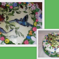Hummingbird I hand painted on fondant :) Loved doing it!