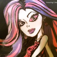 Monster High (Spectra) Cake Hand painted fondant artwork