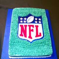 Nfl Draft Party Cake   Buttercream cake, fondant artwork.
