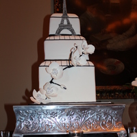 Eiffel Tower Wedding Cake Gumpaste Eiffel Tower with Gumpaste Orchids. Thanks for looking