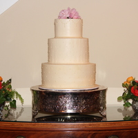 Buttercream Wedding Cake Buttercream cake with Swiss Dots