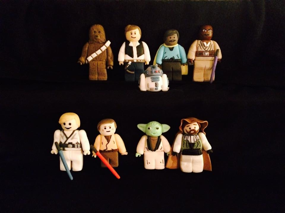 Fondant Lego Star Wars Characters Here is Han Solo, Anakin, Luke and more :)