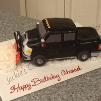 A Friend Asked Me To Make A Birthday Cake For Her Husband In The Form Of His Own Pick Up Truckcomplete With A Snow Plow Chocolate Cake Wit... A friend asked me to make a birthday cake for her husband in the form of his own pick up truck,complete with a snow plow. Chocolate cake...