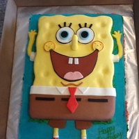Spongebob I was asked to make a cake with Spongebob on it,so I jumped to it. My first time making one. Bottom sheet was yellow and the top was...