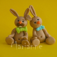 Bunny Couple for my easter decoration,thanks for looking!