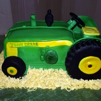 John Deere Tractor   for a little boy that loves tractors this cake was alot of fun