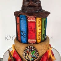 Harry Potter Themed 6 And 8 Inch Cake Wand Eyeglasses Scarf And Hogwarts Emblem Is Fondant Sorting Hat Is Fondant With Styrofoam Armatur Harry Potter themed 6 and 8 inch cake. Wand, eyeglasses, scarf and Hogwarts emblem is fondant. Sorting hat is fondant with styrofoam...