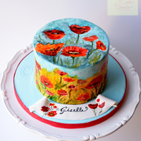 Field Of Poppies Cake Is A Handpainted Cake For My Dear Sister First Try On Complete Hand Painting On Fondant Cake Field of poppies cake is a handpainted cake for my dear sister. First try on complete hand painting on fondant cake.