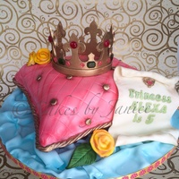 Princess Themed Cake For My Neices Bday Celebration My Version Of A Pillow Cake With A Royal Announcement Scroll Isomalt Gems On Gumpaste Princess themed cake for my neice's bday celebration. My version of a pillow cake with a royal announcement scroll. Isomalt gems on...