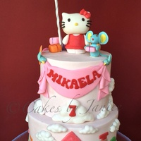 Hello Kitty Themed Bday Cake Inspired By Hello Kitty Fun Town Hello Kitty And Friend Mousie Was Handmade From Fondant And Modeling Chocola... Hello kitty themed bday cake. Inspired by hello kitty fun town. Hello kitty and friend mousie was handmade from fondant and modeling...