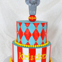 Circus Cake Circus Themed 1st Birthday Cake