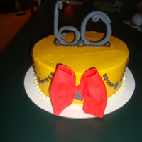 60Th Birthday Cake this was for a friend of mines mother who was turning 60. she wanted something simple and classy so i found something online and made it my...