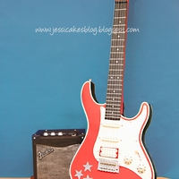 Stand Up Electric Guitar Cake