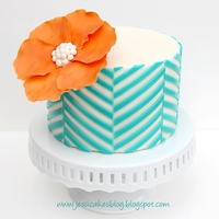 Offset Chevron Pattern Cake